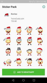 WAStickerApp A Korieo Stickers poster