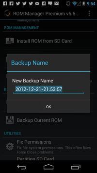 ROM Manager Screenshot 5