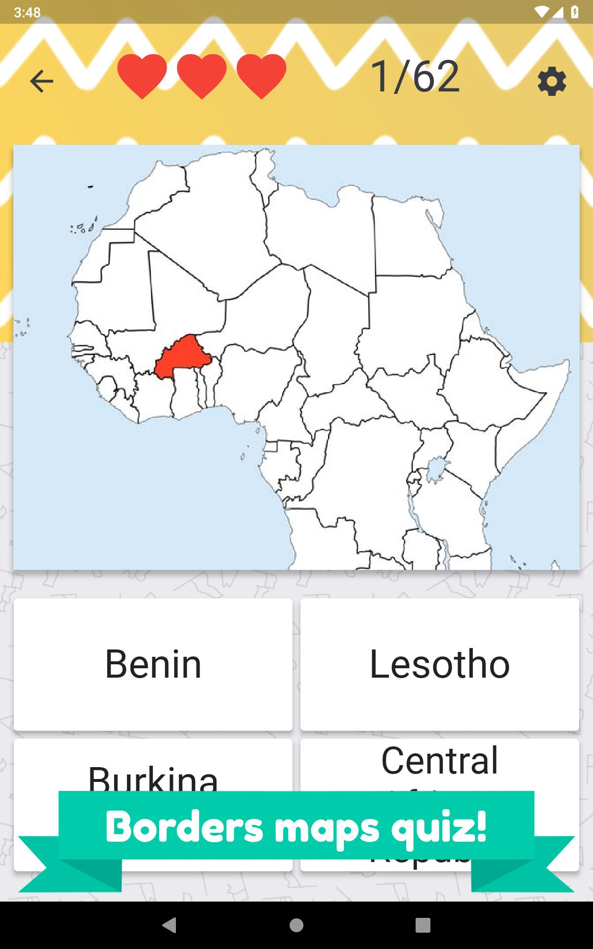 Africa countries quiz – flags, maps and capitals for Android - APK ...