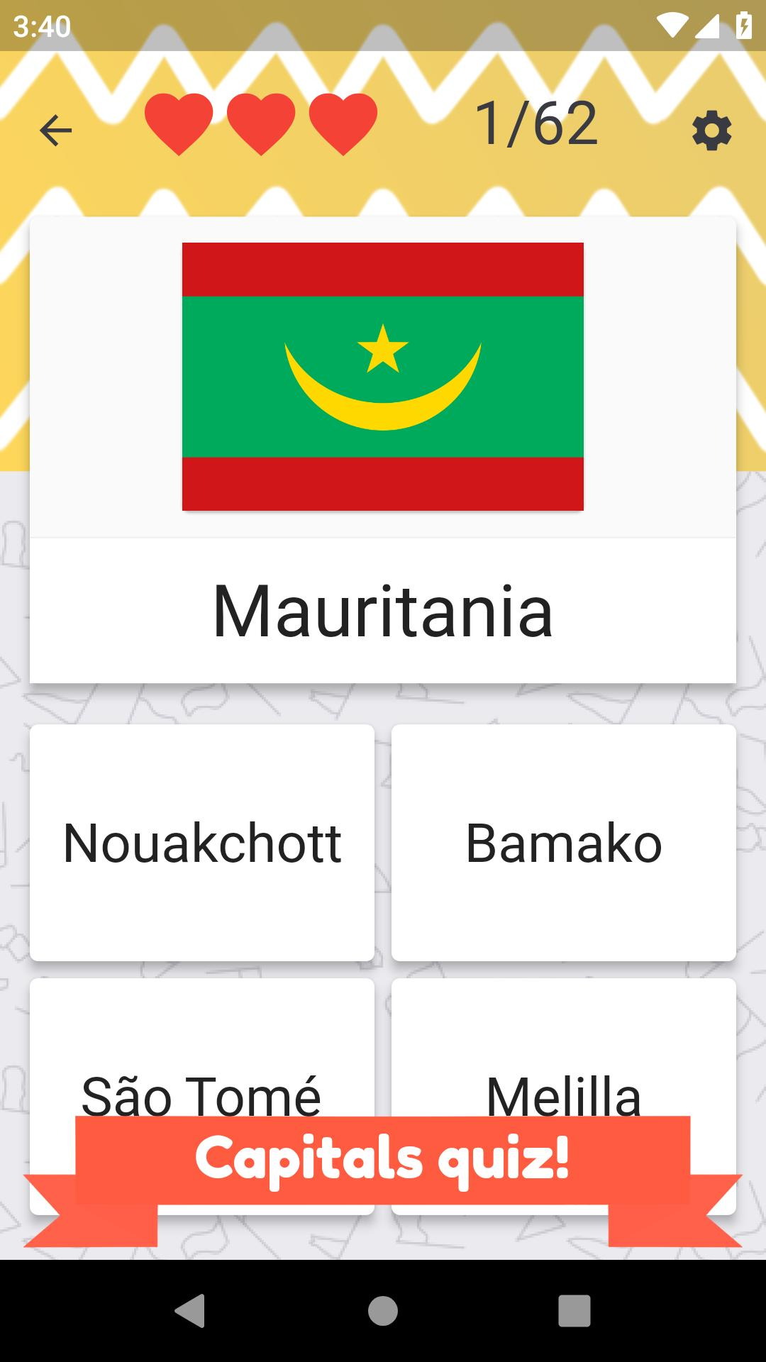 Africa countries quiz – flags, maps and capitals for Android