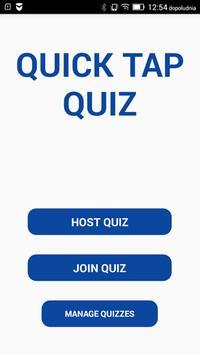 Quick Tap Quiz poster