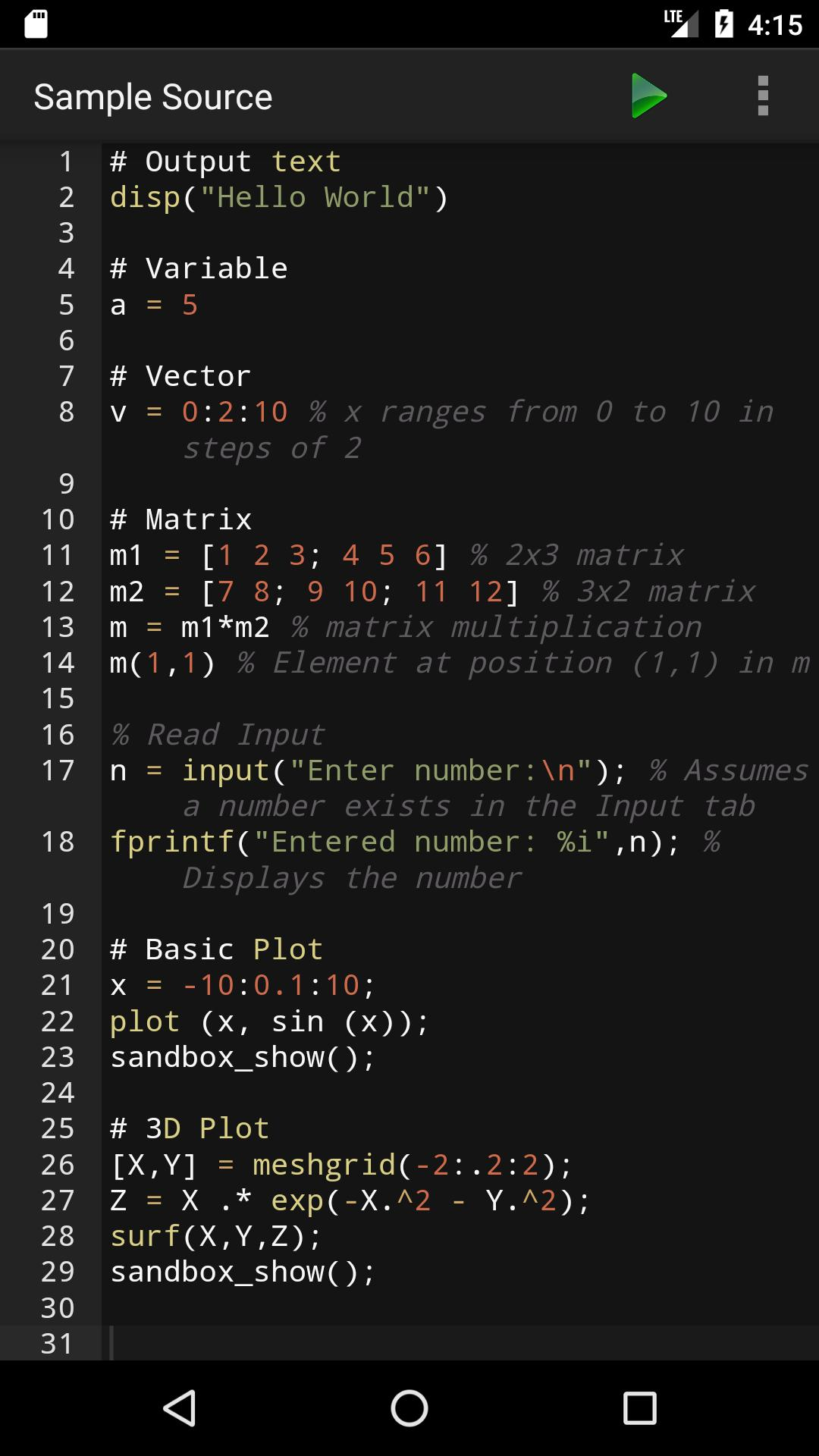Madona: Run Matlab/Octave code for Android - APK Download