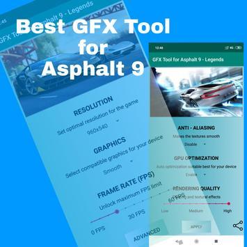 GFX Tool for Asphalt 9 Legends poster