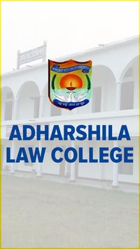 Adharshila Law College poster