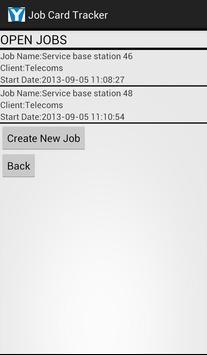 Job Card Tracker screenshot 1