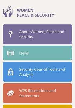 Women, Peace & Security poster