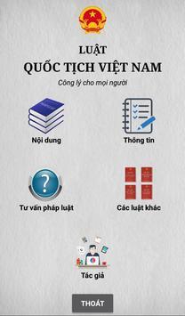 Luật Quốc Tịch Việt Nam poster
