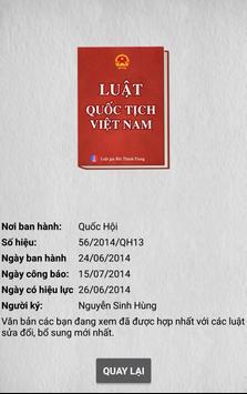 Luật Quốc Tịch Việt Nam screenshot 3