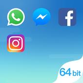 Dual Space Blue - Suporte 64Bit ícone