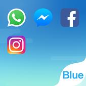 ikon Dual Space - Akun Ganda & Tema Biru Segar