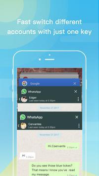 Dual Space - Akun Ganda & Tema Biru Segar screenshot 5