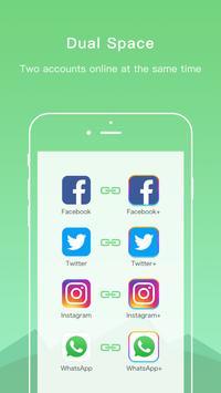 Dual Space Lite-cuenta múltiple y app de clonación captura de pantalla 1