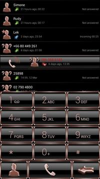 Dialer GlassMetalFrameBronze screenshot 1