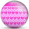 Keyboard Theme Pink Hearts