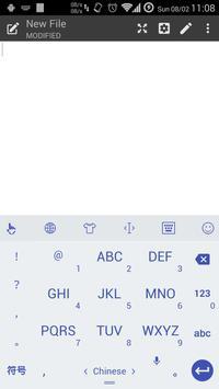 Keyboard Theme Flat White Navy screenshot 5