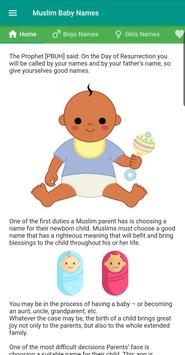 Muslim Islamic Baby Names with Meanings poster