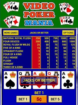 Video Poker Mania screenshot 2