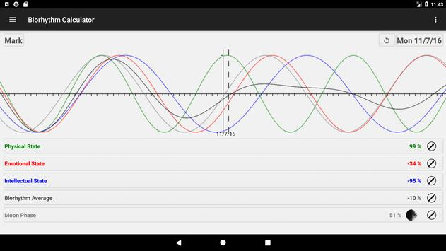Biorhythm Calculator स्क्रीनशॉट 13