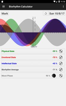 Biorhythm Calculator स्क्रीनशॉट 16