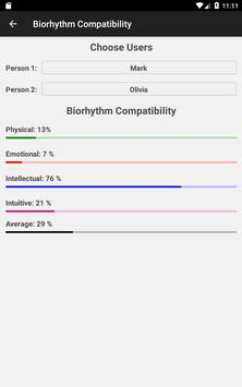 Biorhythm Calculator स्क्रीनशॉट 18