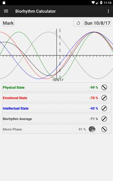 Biorhythm Calculator स्क्रीनशॉट 21