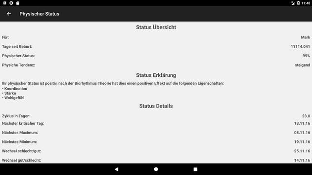 Biorhythmus Rechner Screenshot 11
