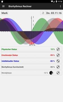 Biorhythmus Rechner Screenshot 16