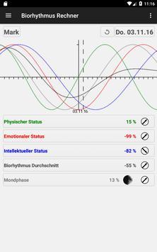 Biorhythmus Rechner Screenshot 21