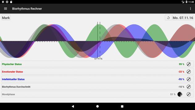 Biorhythmus Rechner Screenshot 8
