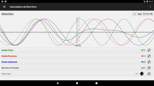Calculadora de Biorritmo captura de pantalla 10
