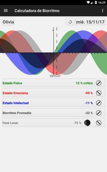 Calculadora de Biorritmo captura de pantalla 16