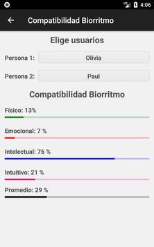 Calculadora de Biorritmo captura de pantalla 4