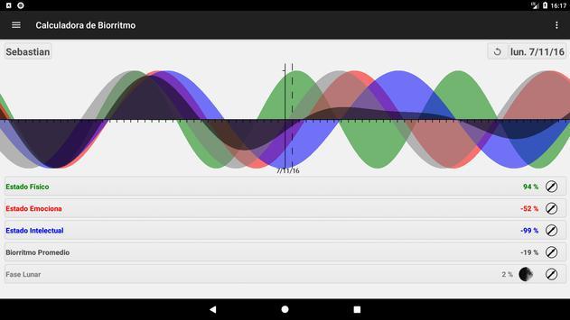 Calculadora de Biorritmo captura de pantalla 8