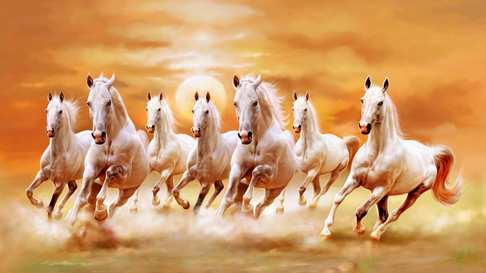 постер бегущая лошадь денис