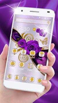 Luxury purple rose theme screenshot 4