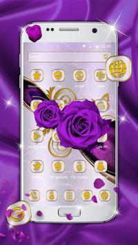 Luxury purple rose theme screenshot 1