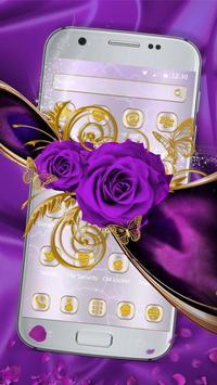 Luxury purple rose theme screenshot 2
