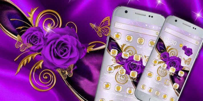 Luxury purple rose theme screenshot 3