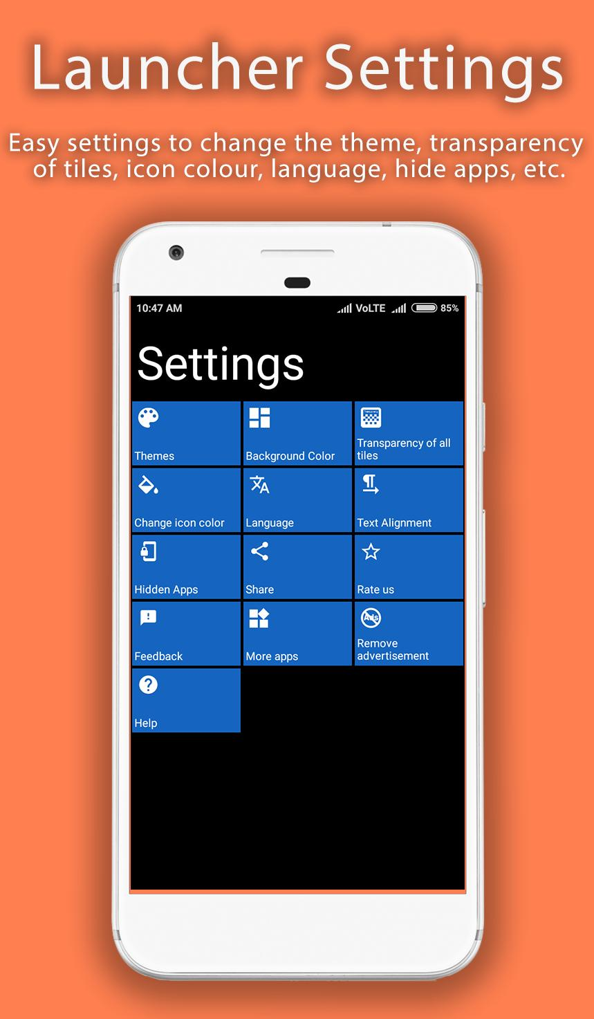 8 1 Metro Look Launcher for Android - APK Download