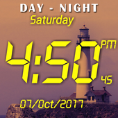 Day night changing clock live wallpaper icon