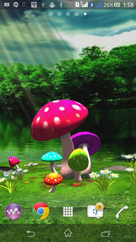 3d Mushroom Live Wallpaper For Android Apk Download