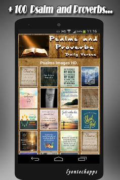 🙏 Psalms and Proverbs Daily Verses with Faith 🙏 screenshot 1