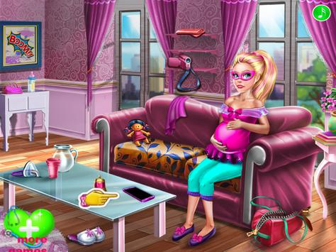 super Doll Twins Birth - Pregnant game poster