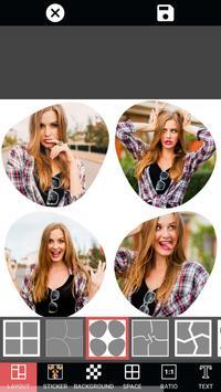 與照片編輯和構成作用的照片框架拼貼畫 - 編輯與貼紙,字體和emojis的照片免費 截圖 7