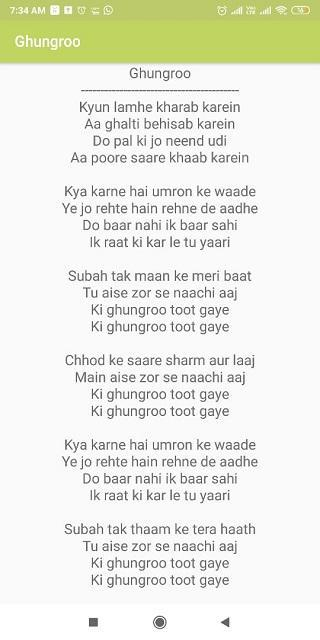 War Hindi Songs Lyrics For Android Apk Download Songs from hindi shows or films that were covered in tamil in their dubbed versions. war hindi songs lyrics for android