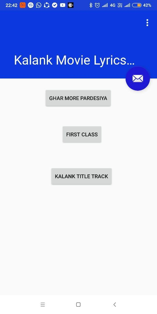 Kalank Movie Lyrics App for Android - APK Download