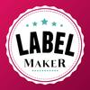 Etiketten maken en stickers maken-icoon