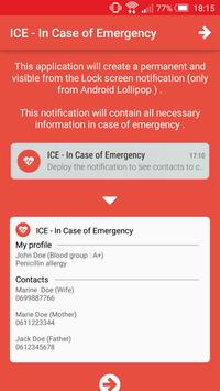 ICE - In Case of Emergency poster