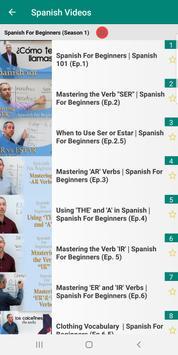 Learn Spanish with 15000 Videos screenshot 3