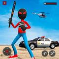 US Stickman Panther Robot Superhero Crime Mafia